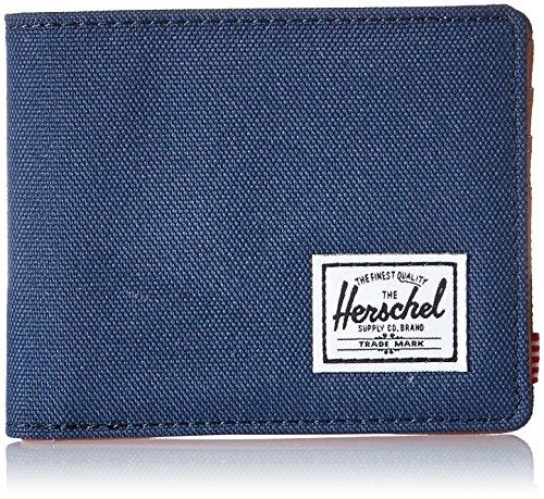 Herschel Supply Co. Men's Hank RFID Wallet, Navy/Tan Synthetic Leather, One Size