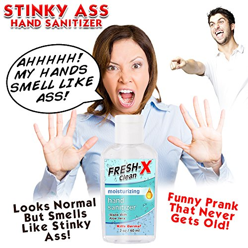 Stinky Ass Hand Sanitizer Prank - 2 oz - Looks Normal But Smells Like Ass - Real Hand Sanitizer - Smells Gross - Funny Gag - Great New Prank - Guaranteed Laughs by Stinky Ass (Image #1)