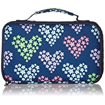 Fit & Fresh Bento Insulated Lunch Bag, Heart Flowers, Navy