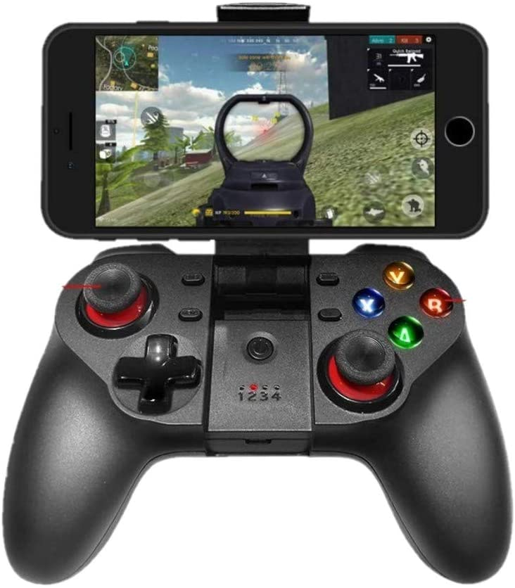 Amazon Com Mobile Game Controller Wireless Bluetooth Gamepad Joystick Multimedia Game Controller Compatible With Ios Android Iphone Ipad Windows Pc Perfect For The Most Games No Supporting Ios 13 4 Or Above Computers Accessories