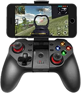 Mobile Game Controller, Wireless Bluetooth Gamepad Joystick Multimedia Game Controller Compatible with iOS Android iPhone iPad Windows PC, Perfect for The Most Games-NO Supporting iOS 13.4 or Above