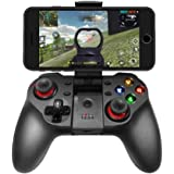 Mobile Game Controller, Wireless Bluetooth Gamepad Joystick Multimedia Game Controller Compatible with iOS Android…