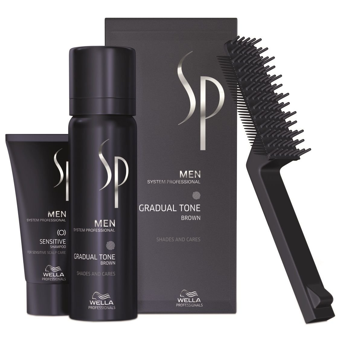 Wella SP Just Men Gradual Tone Set de coloration pour cheveux gris Brun