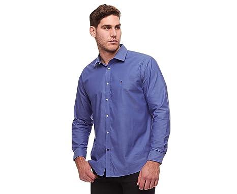 8b543bbd086 Tommy Hilfiger 100% Cotton LS Slim Fit Non Iron Men's Dress Shirt (14.5 32