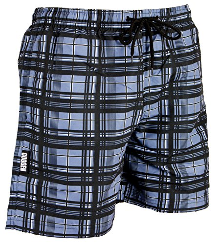 GUGGEN MOUNTAIN Men's swimming trunks out of High-Tec Material swim shorts bathing drawers bathers slip checked *High Quality Print* Farbe checked XL