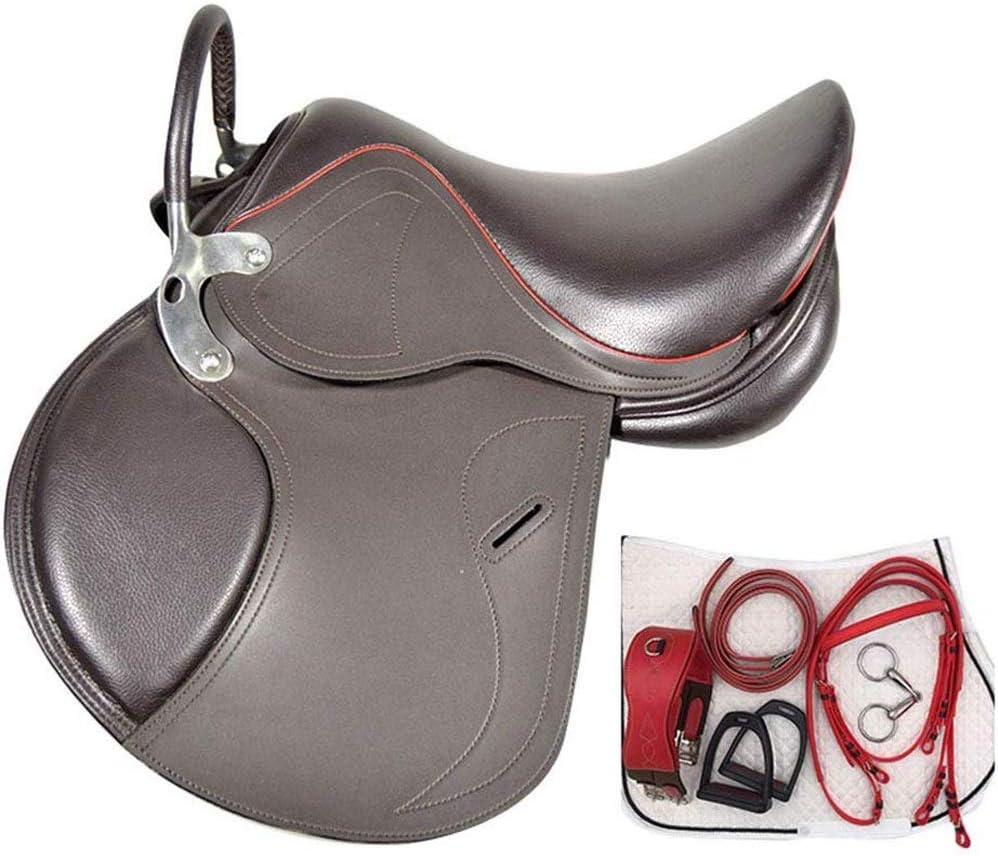 KDKDA Hermosa Western Pleasure rastro del corredor del barril Mostrar caballo de silla no pegajoso juego de almohadillas de plata hípicos hijos de una silla integral completa con reposabrazos de una s