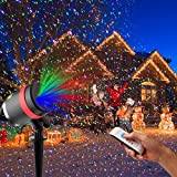 Christmas Laser Lights, HOSYO RGB-Red Green Blue Laser Landscape Projector Star Spotlight with Remote Control, IP65 Waterproof, Dazzling Effects for Christmas Holiday Garden Outdoor Party Decoration