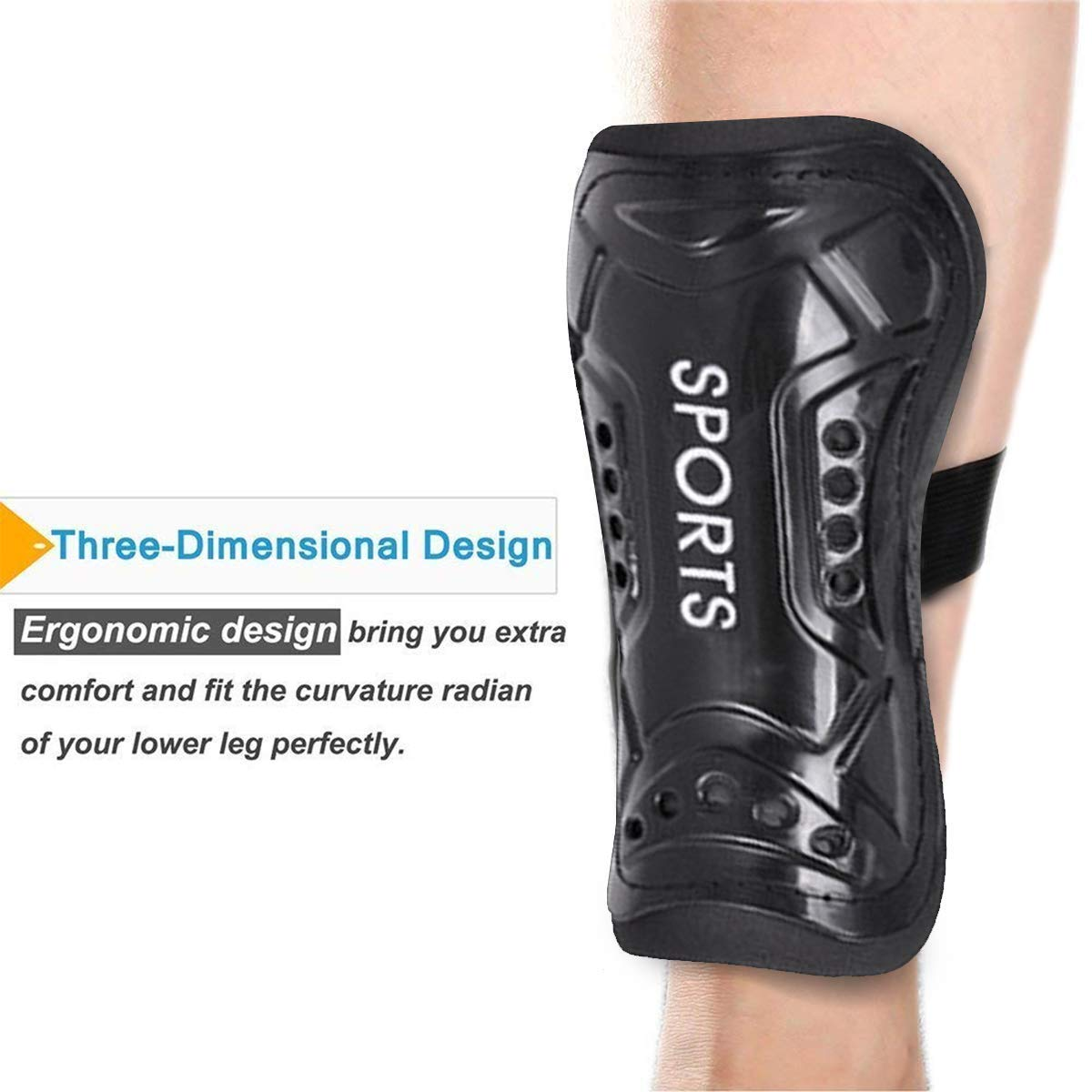 ASTARC Youth Soccer Shin Guards,Breathable Child Calf Protective Gear Soccer Equipment for 3-10 Years Old Boys Girls Children Teenagers,1 Pair Lightweight,Sports protection