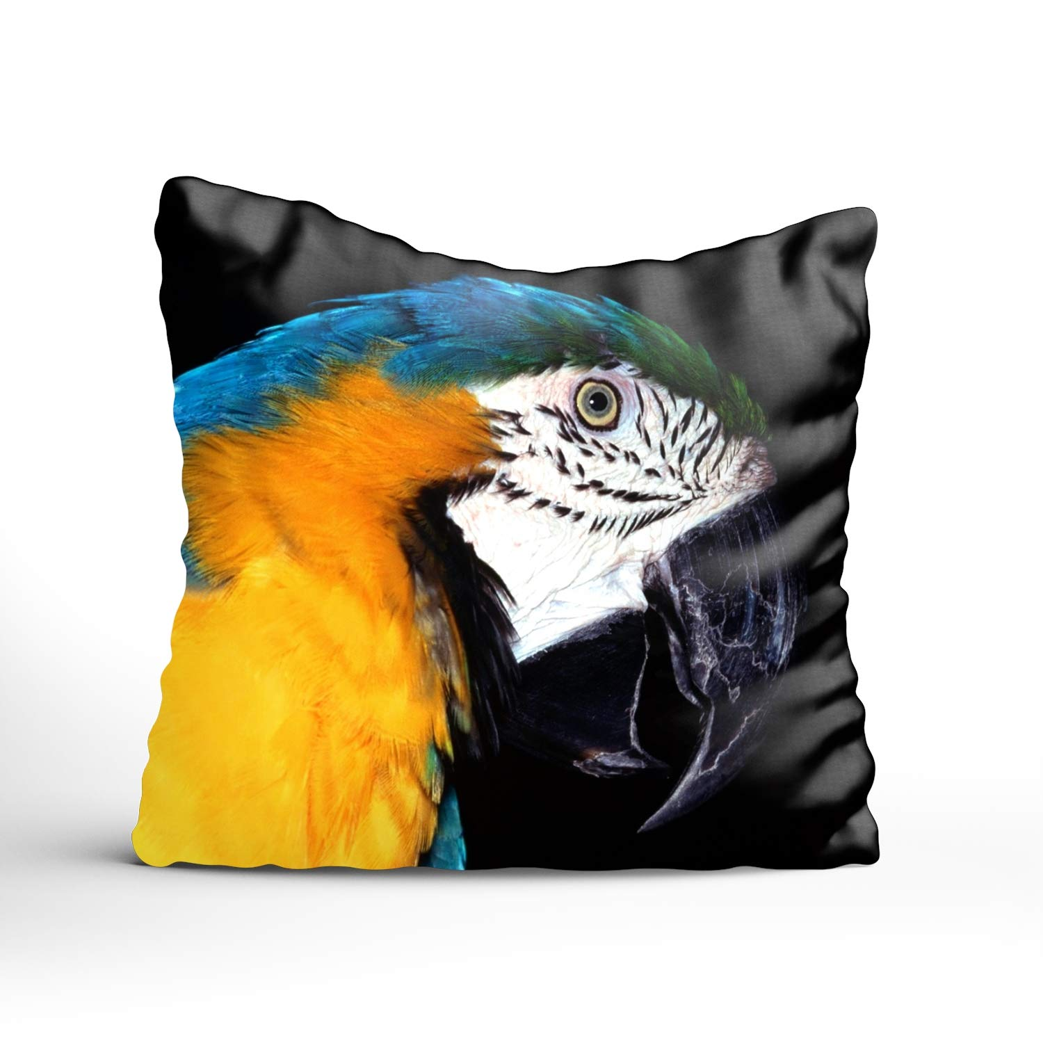 Blue And Yellow Macaw Throw Pillow Case Square Decorative Cushion Cover