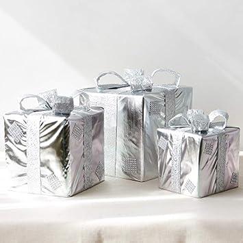 XYQS Decoraciones navideñas Cajas Bolsas de Regalo Adornos Apoyos de Tiro Árbol de Navidad para la decoración de la Ventana de la Tienda (Color : La Plata): ...