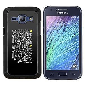 Stuss Case / Funda Carcasa protectora - Divertido Palabra de Vida Arte da limones - Samsung Galaxy J1 J100