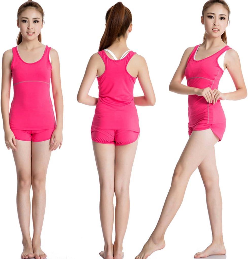 V/êtement de sport Femme Pro D/ébarteur de Fitness pour femme Jogging Fitness sans Manches Course Yoga