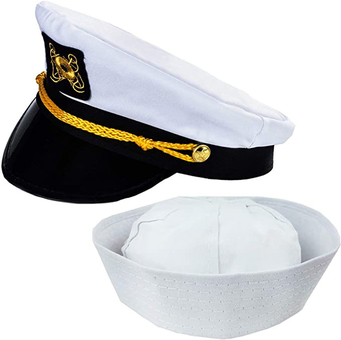 1Pcs Yacht Captain Adjustable Sailor Boat Marine Cotton Cap Hat Costume Party JJ