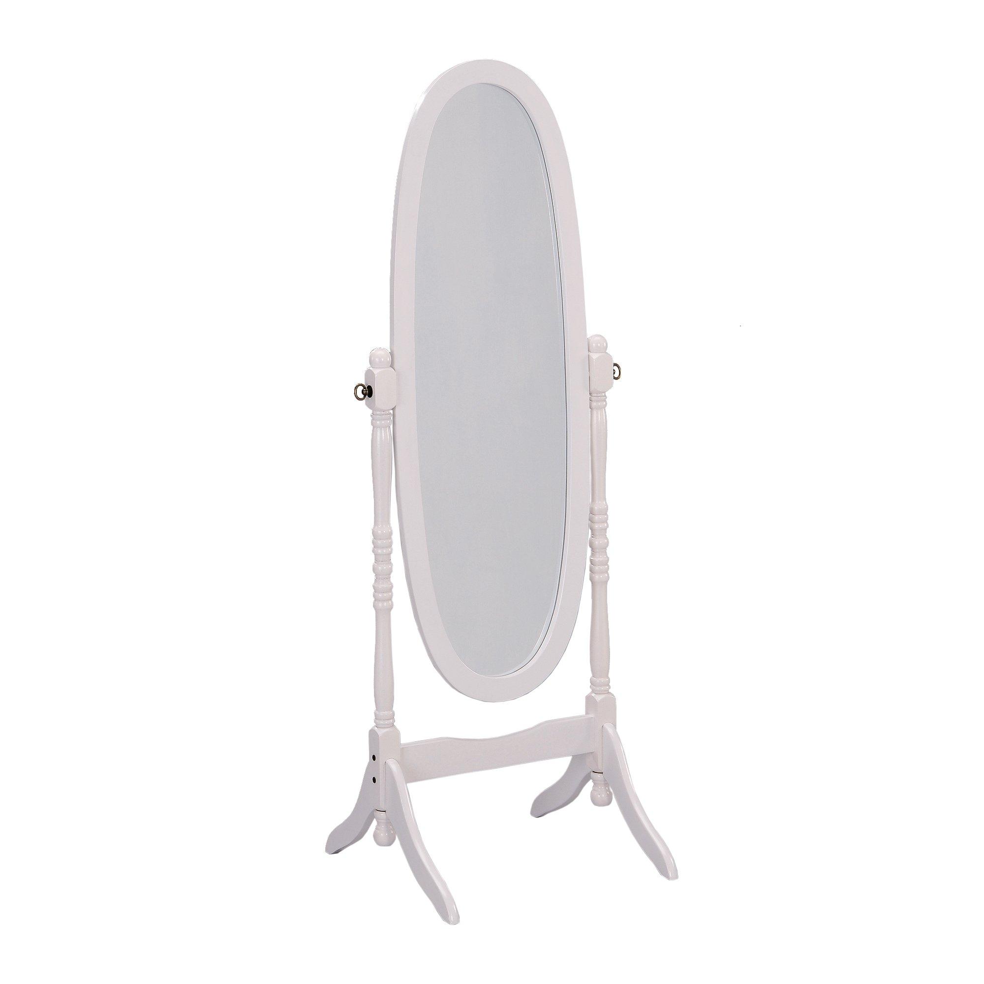 ORE International Cheval Standing Mirror, 59.5'' Height, White Finish