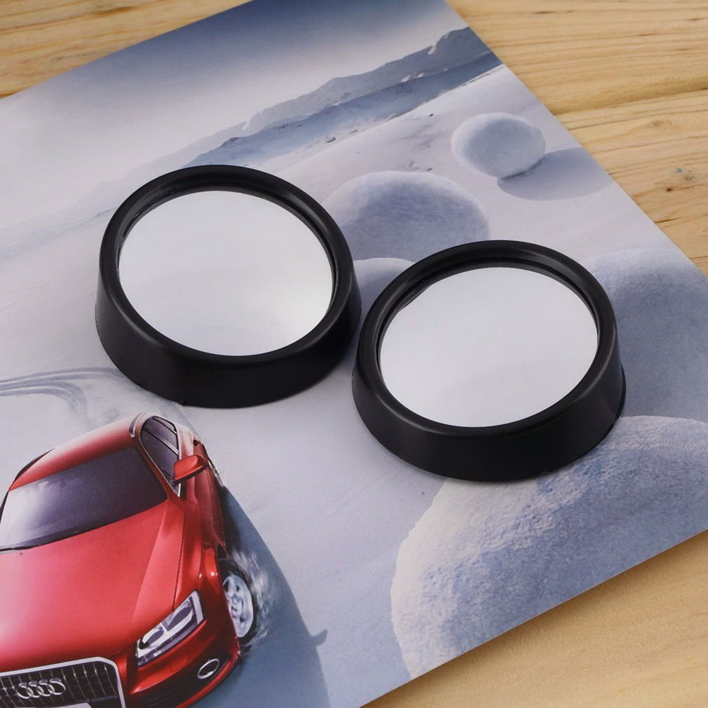 Kasstino 1Pair Car Vehicle Driver Wide Angle Round Convex Mirror Blind Spot Auto RearView by Kasstino (Image #4)