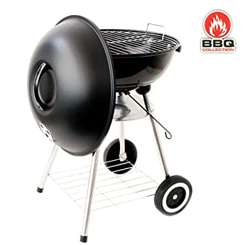 BBQ Collection - Barbacoa de acero con tapa y calor ajustable a 3 niveles (45