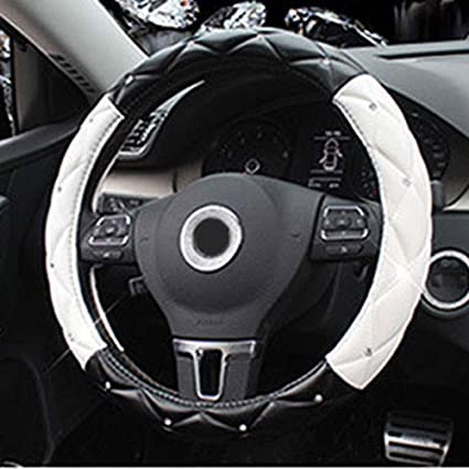 38CM Car Styling Lenkradbezug Anti-Rutsch-Atmungsaktiv PU-Leder Universal