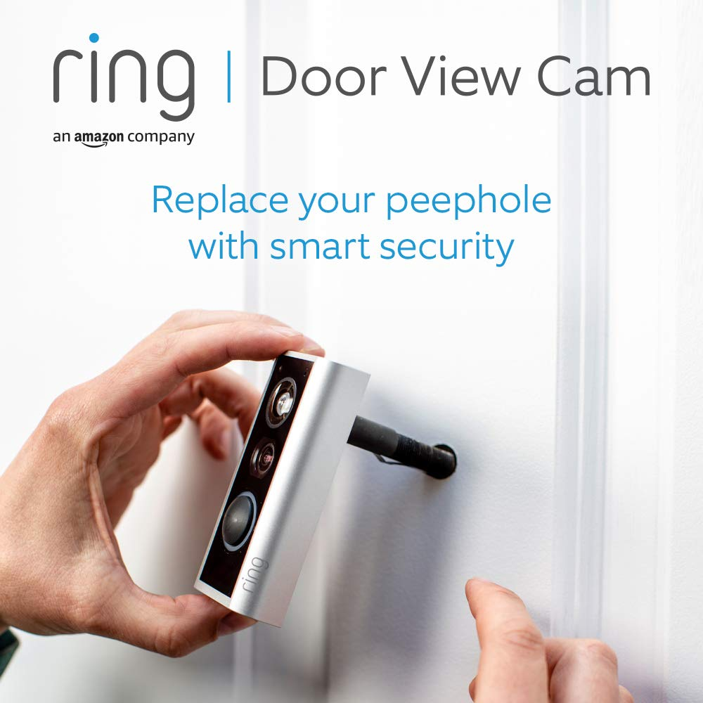 Ring Door View Cam | Video doorbell that replaces your peephole with 1080p HD video and Two-Way Talk. For doors of 34-55mm thickness | With 30-day free trial of Ring Protect Plan
