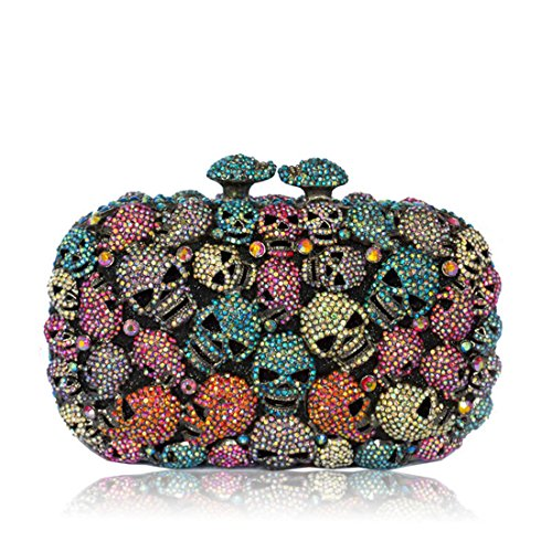 Handbags Bags Purses And For Skull Colorful Womens Party Clutches IBELLA Evening qn1IBwxx