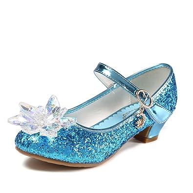 O&N Prinzessin Schuhe mit Absatz Mädchen Ballerina Schuhe