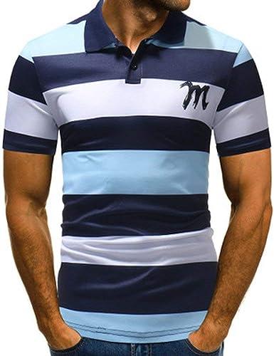Camisa De Polo para Camisa Polo De Manga Hombre De Corta De Joven Verano Top Camisa