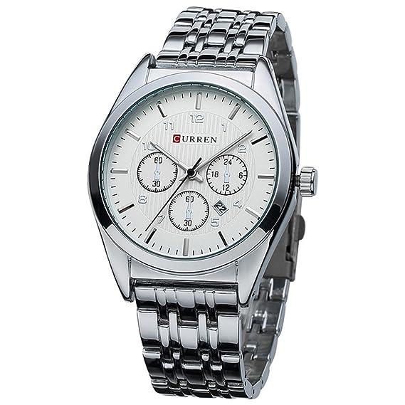 Reloj de pulsera moderno de los hombres blancos frescos del estilo simple fresco con los números