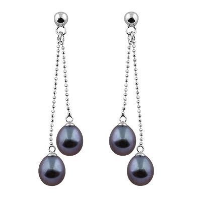 Amazon.com: Pendientes de plata 925 rodiada con perlas ...