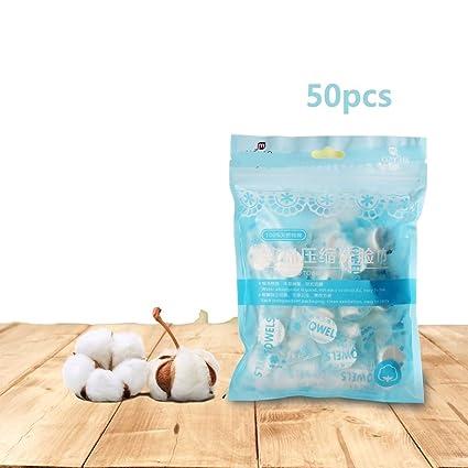 Huihuger Toallas desechables portátiles mágicas comprimidas de la toalla de cara disponible mini para los deportes