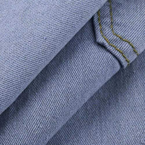 Recta Mujer Cintura B De Denim Blau Skinny Slim Agujero Largos Mediados Jeans Adelina Pantalones Mujeres Fit Pierna Ropa vETB4qZwx4