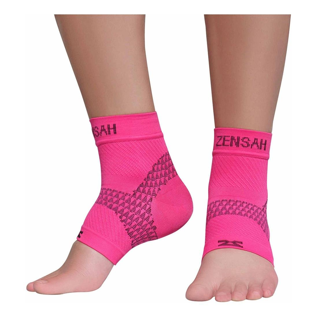 Zensah PF Compression Sleeves (Pair), Magenta, Small