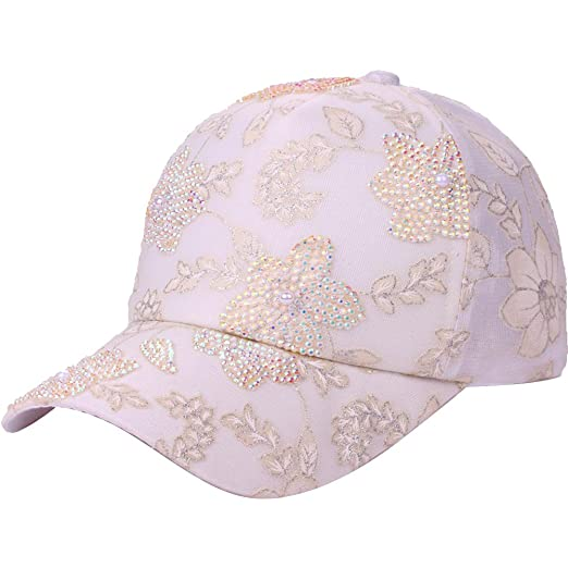 a27c573a246 Funbase Women Lace Pearl Breathable Baseball Cap Fresh Snapback Hat Sports  Hat at Amazon Women s Clothing store