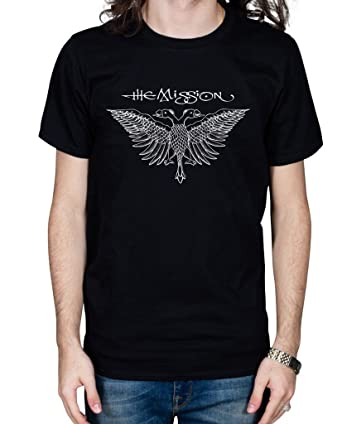 d1bb983c9a3 Official The Mission Eagle 1 Unisex T-Shirt Band Merch  Amazon.co.uk   Clothing