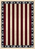 "Milliken Seasonal Stars & Stripes Area Rug Opal/3'10"" x5'4/Rectangle/Nylon/Red For Sale"