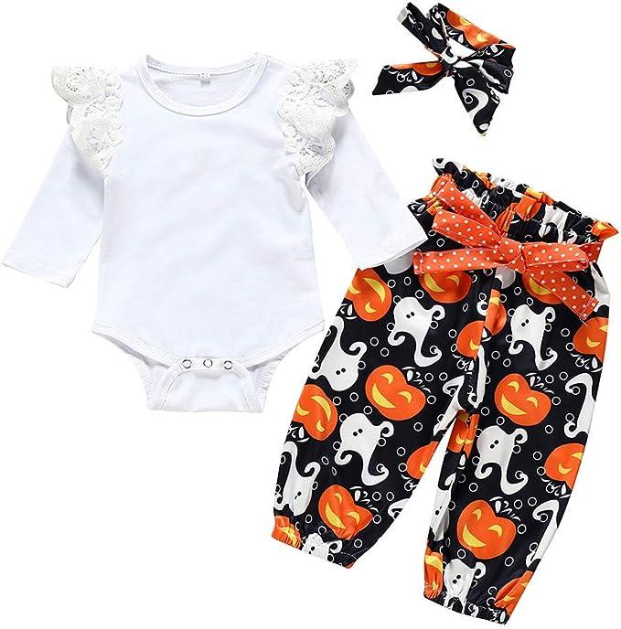 diademas pantalones Mono de mameluco para ni/ños Conjunto de sudaderas con capucha estampadas para beb/és de Navidad para ni/ños peque/ños
