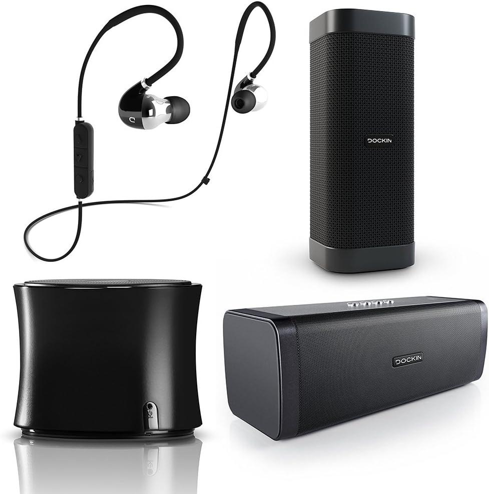 Dockin D Solid Bluetooth Lautsprecher Mobil Mit Metallgehäuse Knackigem Bass Fm Radio Nfc Freisprechfunktion Silber Audio Hifi