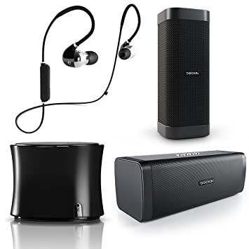 DOCKIN D Solid Altavoz Móvil Bluetooth Sólido con Carcasa de Metal, Graves Nítidos, Radio FM, NFC, Manos Libres, Plata