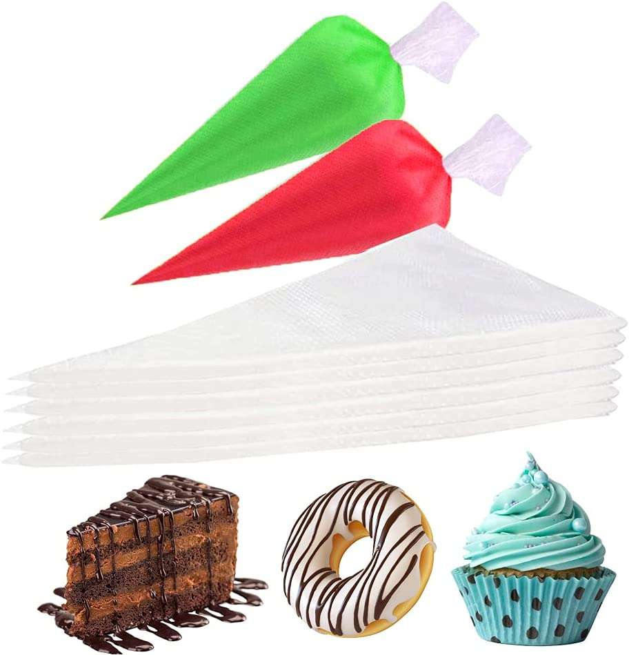 Piping bags Disposable,Explosion-proof pastry bag 100pcs,Disposable Pastry Bag Icing Piping Bag, large piping bags,For Cream Frosting Cookie, Cake Decorating Supplies(12in)