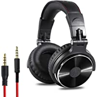 Roloiki Professional Musical Instrument Monitor Headphones Wired Headset with 3.5mm & 6.5mm Audio Cables for Electrical…