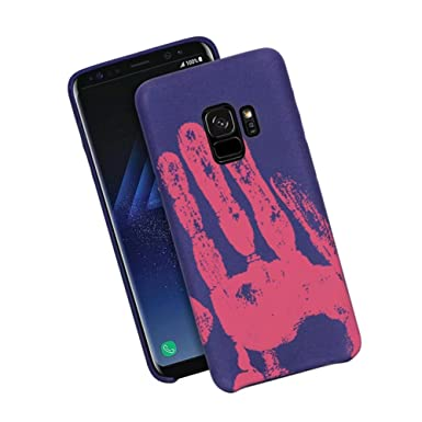 the latest 1bd9e b37a2 MAETEK Galaxy S7 Edge Color Changing Case, Thermal Sensor Matte TPU Case,  Heat Induction Magical Fluorescent Cover for Samsung Galaxy S7 Edge -  Purple ...