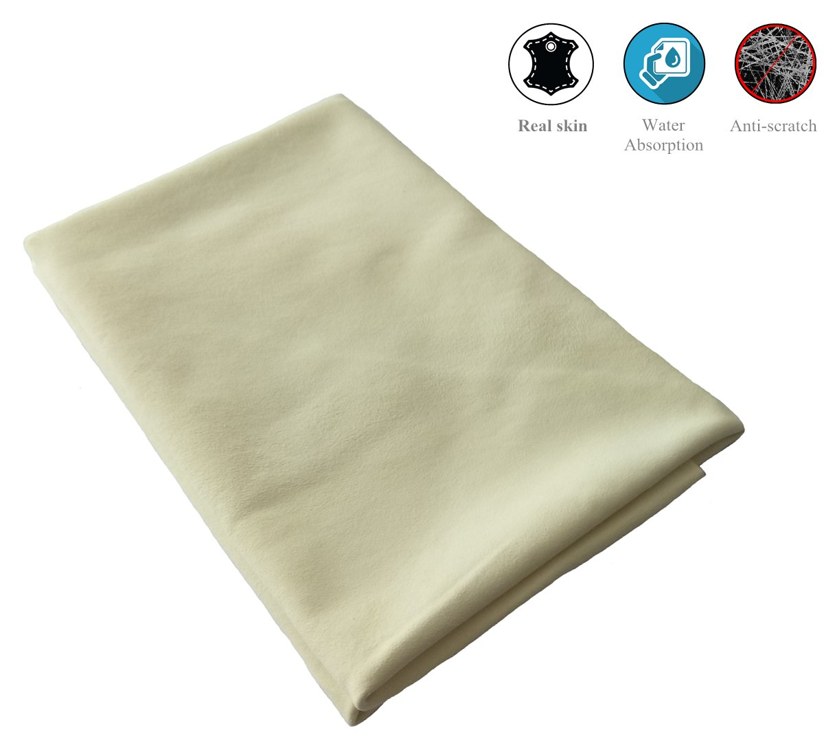 Okayda Super Soft Shammy Towel for Car Wash Care Natural Fabric Chamois Drying Towel 3.5 Sq.ft