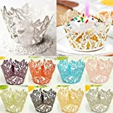 Muffin Cases - 2015 12x Hollow Butterfly Cupcake Muffin Per Case Wedding Party Liner Decor Christmas Gift 6lpl - Cases Cuake Paper Butterfly Cuakes Cake Molds Dress Mold Muffin Paper Under