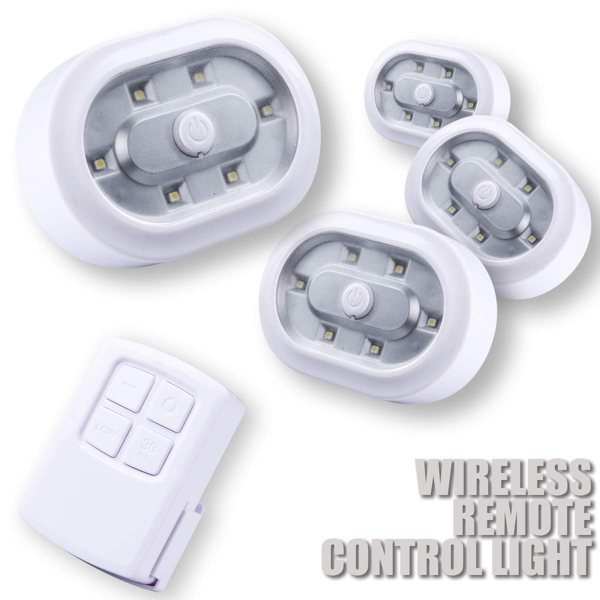 ZTX Wireless LED Puck Light with Remote Control and with 3M Adhesive,Screw,Magnetic,Easy to Install for Closets,Cabinet,Storage,Attics,Shelves Lighting, Include 11 Piece Batteries