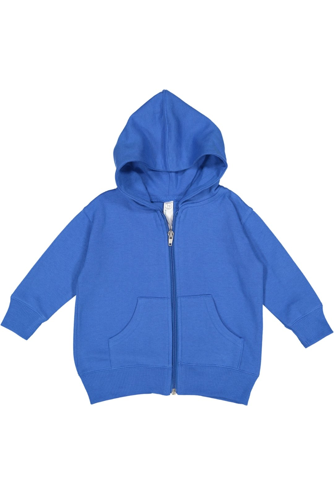 Rabbit Skins Infant Fleece Long Sleeve Full Zip Hooded Sweatshirt with Pouch Pockets, Royal, 6 Months by Rabbit Skins