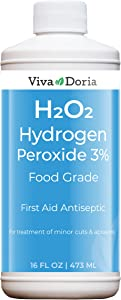 Viva Doria Hydrogen Peroxide 3 Percent, Food Grade, 16 Fluid Ounce, First Aid Antiseptic, Natural Cleaner