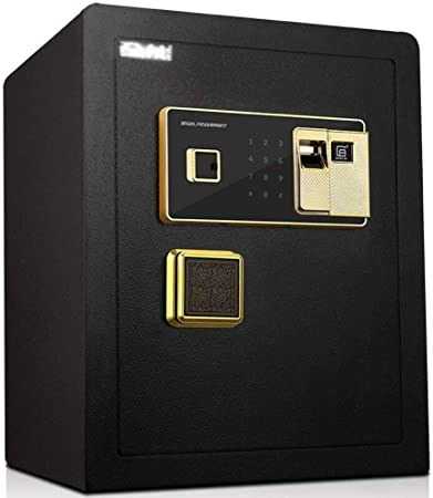 NewbieBoom Caja Fuerte electrónica de Seguridad Digital, 36X32X45Cm Biométrica Huella Dactilar Hogar Acero Caja Fuerte, Pantalla LED, para Oficina Hotel Joyas Pistola Efectivo Medicamento, Negro: Amazon.es: Hogar