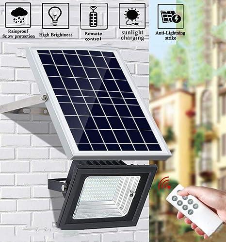 nnn Luces Exteriores con Energía Solar Farolas Solares Farolas Solares con Control Remoto IP65 A Prueba De Agua para Jardín Cerca Camino,10W: Amazon.es: Hogar