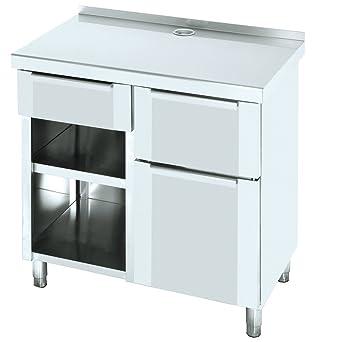 Macfrin 1209 Mueble de 100X60 Cafetero Trasbarra: Amazon.es ...