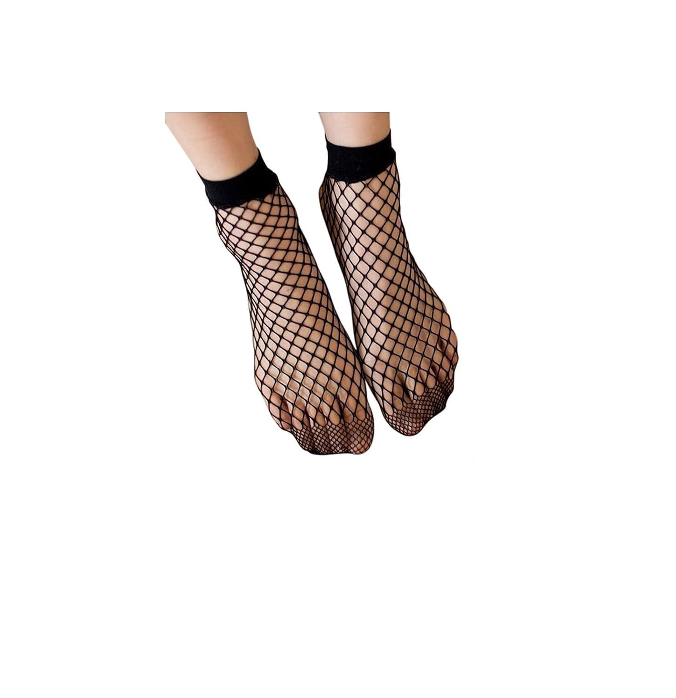 214b2a5b4c693 Mytoptrendz® Ladies oversized Fishnet Plain Top Ankle High Socks:  Amazon.co.uk: Clothing