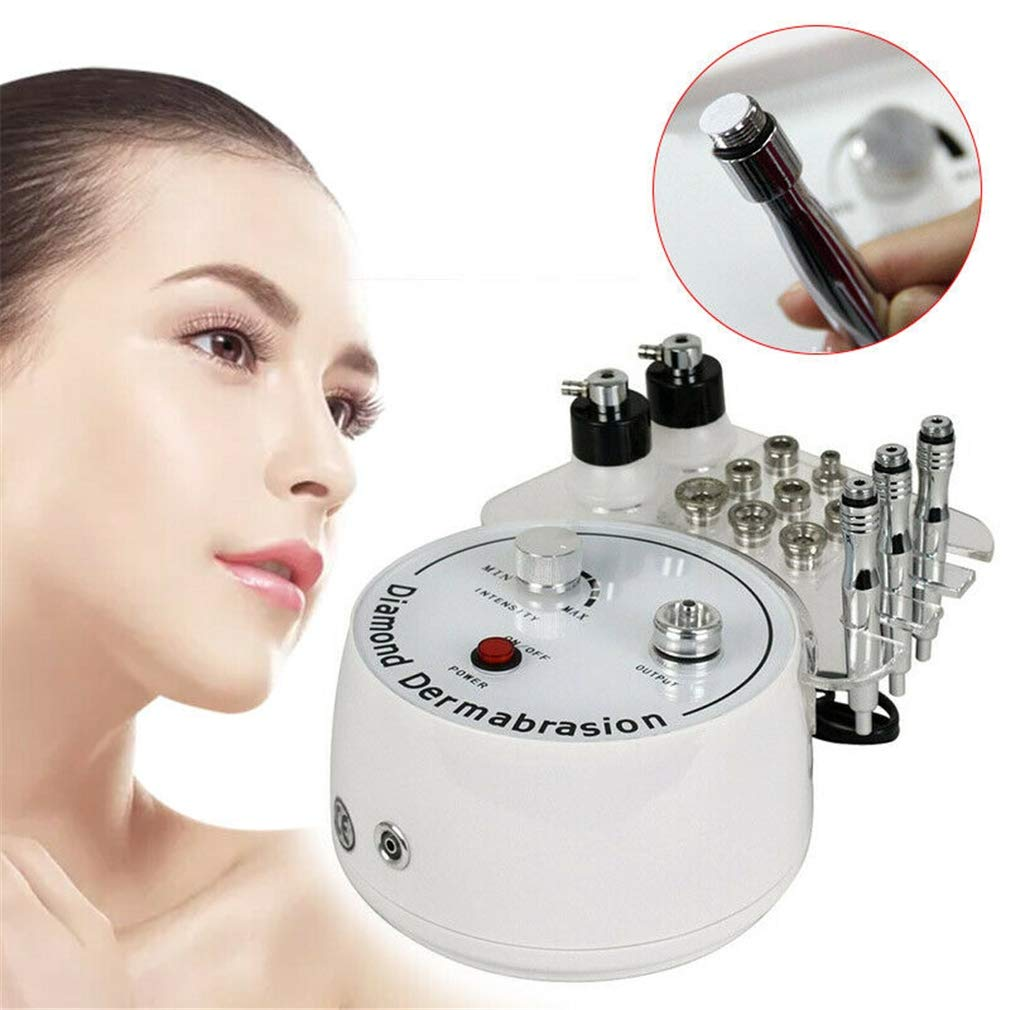 3 in 1 Diamond Microdermabrasion Machine/Blackhead Remover Skin Care/Facial Dermabrasion Machin/Face Cleaning Massage Salon Equipment for Personal Home Use