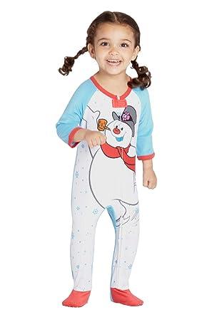 9a0d9b6a6410 Amazon.com  Frosty The Snowman Baby Fleece One Piece Onesie Footie ...